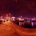 London Marina at night Panorama - emotionsLess image